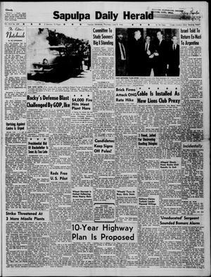 Primary view of Sapulpa Daily Herald (Sapulpa, Okla.), Vol. 45, No. 239, Ed. 1 Thursday, June 9, 1960