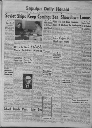 Primary view of Sapulpa Daily Herald (Sapulpa, Okla.), Vol. 48, No. 35, Ed. 1 Wednesday, October 24, 1962