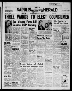 Primary view of Sapulpa Daily Herald (Sapulpa, Okla.), Vol. 43, No. 178, Ed. 1 Monday, March 31, 1958