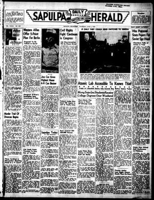 Primary view of Sapulpa Daily Herald (Sapulpa, Okla.), Vol. 35, No. 233, Ed. 1 Thursday, June 2, 1949