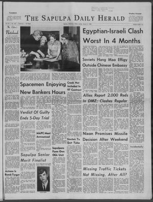 Primary view of Sapulpa Daily Herald (Sapulpa, Okla.), Vol. 54, No. 162, Ed. 1 Sunday, March 9, 1969