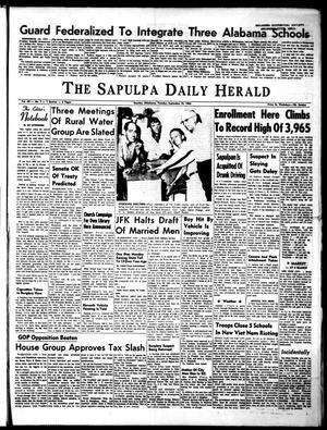 Primary view of The Sapulpa Daily Herald (Sapulpa, Okla.), Vol. 49, No. 7, Ed. 1 Tuesday, September 10, 1963