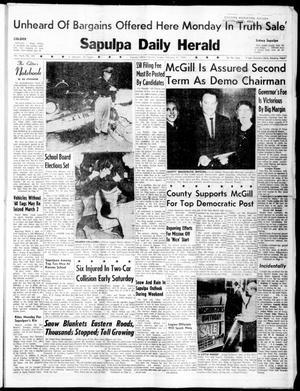 Primary view of Sapulpa Daily Herald (Sapulpa, Okla.), Vol. 45, No. 145, Ed. 1 Sunday, February 21, 1960