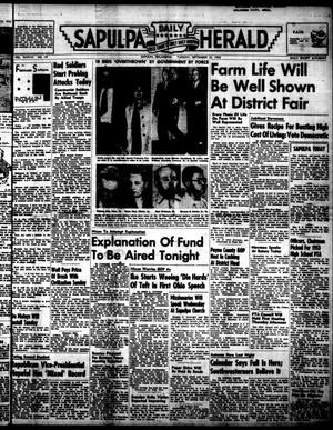 Primary view of Sapulpa Daily Herald (Sapulpa, Okla.), Vol. 38, No. 19, Ed. 1 Tuesday, September 23, 1952
