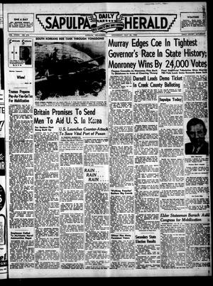 Primary view of Sapulpa Daily Herald (Sapulpa, Okla.), Vol. 36, No. 276, Ed. 1 Wednesday, July 26, 1950