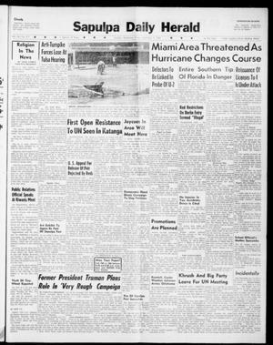 Primary view of Sapulpa Daily Herald (Sapulpa, Okla.), Vol. 45, No. 317, Ed. 1 Friday, September 9, 1960