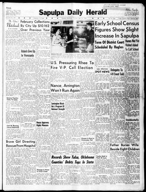 Primary view of Sapulpa Daily Herald (Sapulpa, Okla.), Vol. 45, No. 197, Ed. 1 Thursday, April 21, 1960
