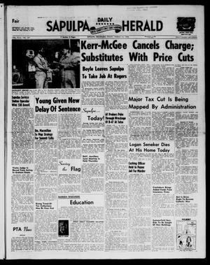 Primary view of Sapulpa Daily Herald (Sapulpa, Okla.), Vol. 43, No. 164, Ed. 1 Friday, March 14, 1958