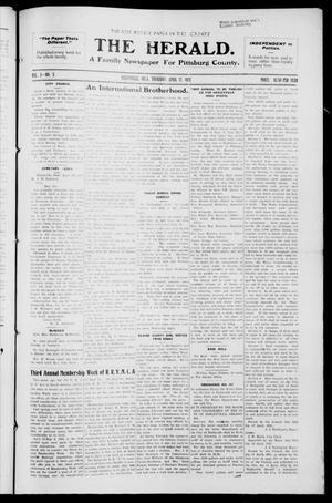 Primary view of The Herald. (Haileyville, Okla.), Vol. 3, No. 3, Ed. 1 Thursday, April 21, 1921