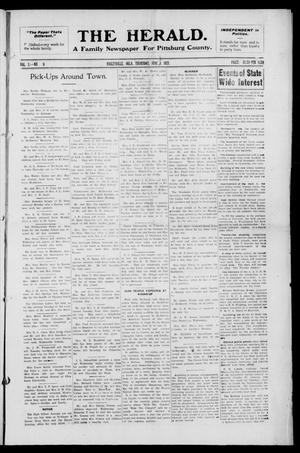 Primary view of object titled 'The Herald. (Haileyville, Okla.), Vol. 3, No. 9, Ed. 1 Thursday, June 2, 1921'.