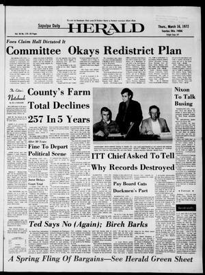 Primary view of Sapulpa Daily Herald (Sapulpa, Okla.), Vol. 58, No. 170, Ed. 1 Thursday, March 16, 1972