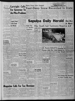 Primary view of Sapulpa Daily Herald (Sapulpa, Okla.), Vol. 46, No. 170, Ed. 1 Friday, March 31, 1961