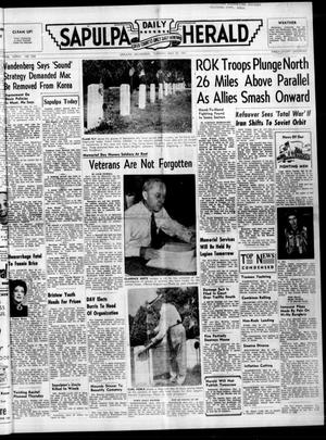 Primary view of Sapulpa Daily Herald (Sapulpa, Okla.), Vol. 37, No. 228, Ed. 1 Tuesday, May 29, 1951