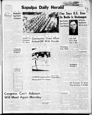 Primary view of Sapulpa Daily Herald (Sapulpa, Okla.), Vol. 47, No. 11, Ed. 1 Sunday, September 24, 1961