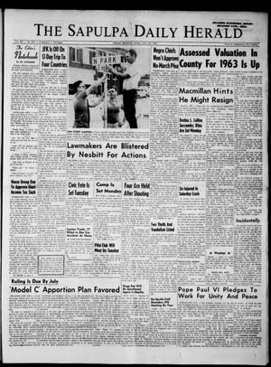 Primary view of The Sapulpa Daily Herald (Sapulpa, Okla.), Vol. 48, No. 241, Ed. 1 Sunday, June 23, 1963
