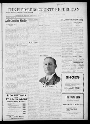Primary view of object titled 'The Pittsburg County Republican (Hartshorne, Okla.), Vol. 4, No. 10, Ed. 1 Thursday, June 15, 1922'.
