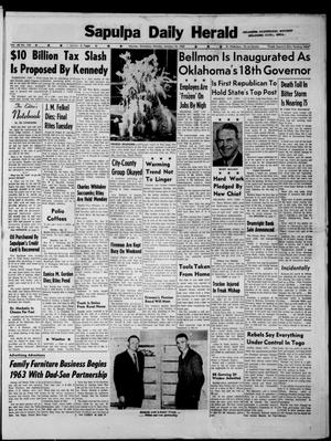 Primary view of Sapulpa Daily Herald (Sapulpa, Okla.), Vol. 48, No. 104, Ed. 1 Monday, January 14, 1963