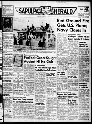 Primary view of Sapulpa Daily Herald (Sapulpa, Okla.), Vol. 40, No. 137, Ed. 1 Wednesday, February 9, 1955