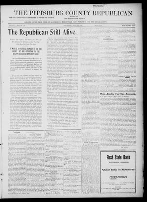 Primary view of object titled 'The Pittsburg County Republican (Hartshorne, Okla.), Vol. 4, No. 14, Ed. 1 Thursday, July 13, 1922'.