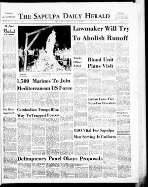 Primary view of The Sapulpa Daily Herald (Sapulpa, Okla.), Vol. 57, No. 14, Ed. 1 Friday, September 18, 1970