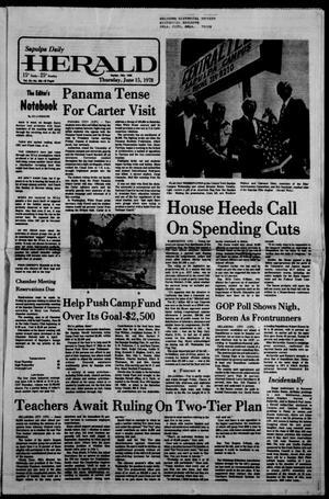 Primary view of Sapulpa Daily Herald (Sapulpa, Okla.), Vol. 64, No. 234, Ed. 1 Thursday, June 15, 1978