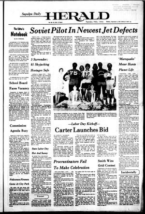 Primary view of Sapulpa Daily Herald (Sapulpa, Okla.), Vol. 62, No. 305, Ed. 1 Monday, September 6, 1976