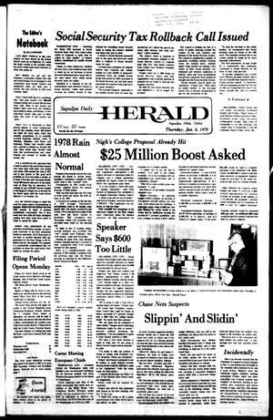 Primary view of Sapulpa Daily Herald (Sapulpa, Okla.), Vol. 65, No. 95, Ed. 1 Thursday, January 4, 1979