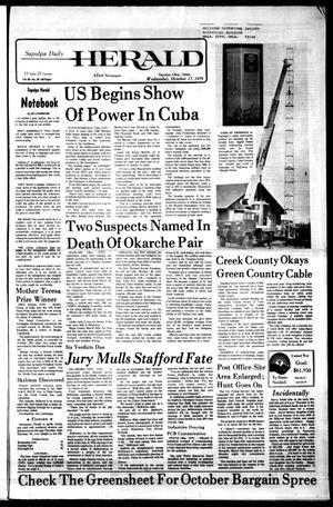 Primary view of Sapulpa Daily Herald (Sapulpa, Okla.), Vol. 66, No. 29, Ed. 1 Wednesday, October 17, 1979