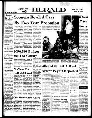 Primary view of Sapulpa Daily Herald (Sapulpa, Okla.), Vol. 59, No. 280, Ed. 1 Wednesday, August 8, 1973