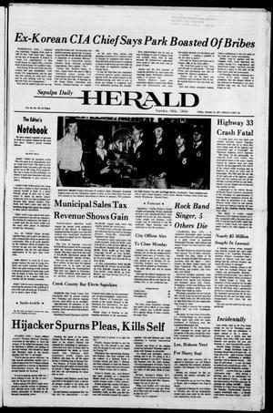 Primary view of Sapulpa Daily Herald (Sapulpa, Okla.), Vol. 64, No. 33, Ed. 1 Friday, October 21, 1977