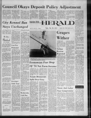 Primary view of Sapulpa Daily Herald (Sapulpa, Okla.), Vol. 59, No. 136, Ed. 1 Tuesday, February 20, 1973