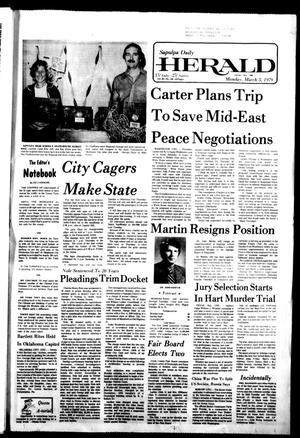 Primary view of Sapulpa Daily Herald (Sapulpa, Okla.), Vol. 65, No. 146, Ed. 1 Monday, March 5, 1979