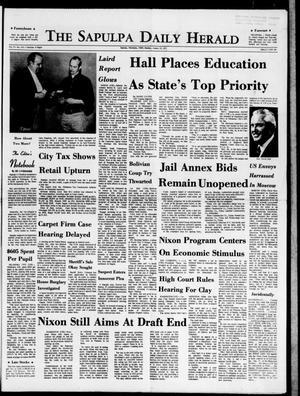 Primary view of The Sapulpa Daily Herald (Sapulpa, Okla.), Vol. 57, No. 111, Ed. 1 Monday, January 11, 1971