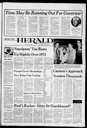 Primary view of Sapulpa Daily Herald (Sapulpa, Okla.), Vol. 60, No. 307, Ed. 1 Sunday, September 8, 1974