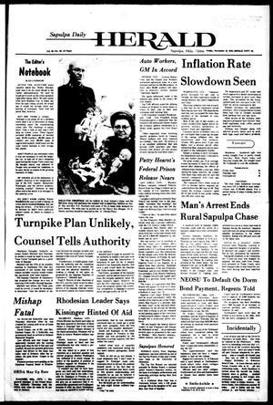 Primary view of Sapulpa Daily Herald (Sapulpa, Okla.), Vol. 63, No. 58, Ed. 1 Friday, November 19, 1976