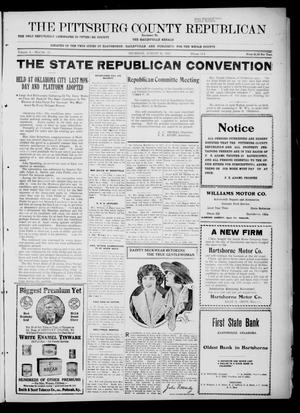 Primary view of object titled 'The Pittsburg County Republican (Hartshorne, Okla.), Vol. 4, No. 21, Ed. 1 Thursday, August 31, 1922'.
