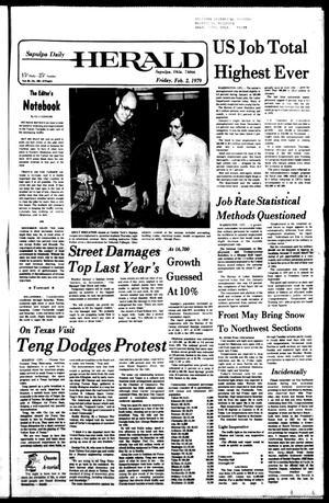 Primary view of Sapulpa Daily Herald (Sapulpa, Okla.), Vol. 65, No. 120, Ed. 1 Friday, February 2, 1979