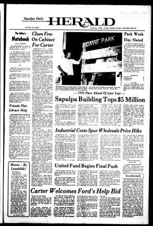 Primary view of Sapulpa Daily Herald (Sapulpa, Okla.), Vol. 63, No. 45, Ed. 1 Thursday, November 4, 1976