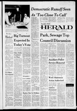 Primary view of Sapulpa Daily Herald (Sapulpa, Okla.), Vol. 61, No. 3, Ed. 1 Tuesday, September 17, 1974