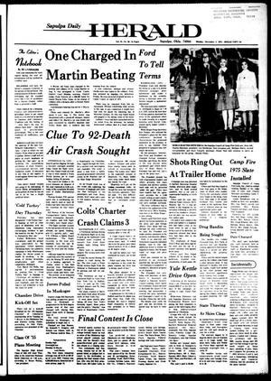 Primary view of Sapulpa Daily Herald (Sapulpa, Okla.), Vol. 61, No. 68, Ed. 1 Monday, December 2, 1974