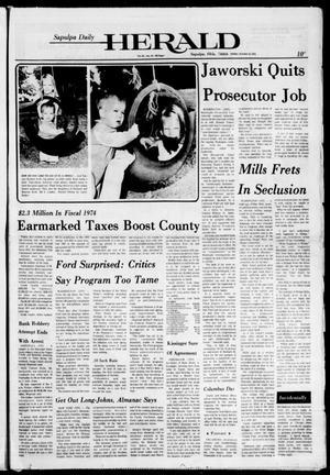 Primary view of Sapulpa Daily Herald (Sapulpa, Okla.), Vol. 61, No. 25, Ed. 1 Sunday, October 13, 1974
