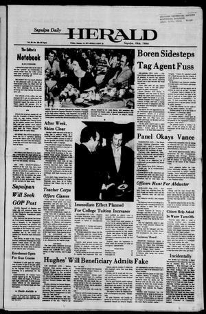 Primary view of Sapulpa Daily Herald (Sapulpa, Okla.), Vol. 63, No. 104, Ed. 1 Friday, January 14, 1977