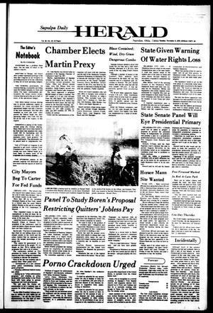 Primary view of Sapulpa Daily Herald (Sapulpa, Okla.), Vol. 63, No. 49, Ed. 1 Tuesday, November 9, 1976