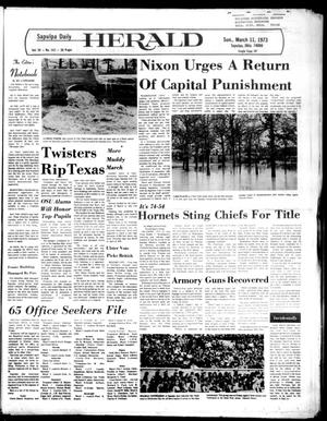 Primary view of Sapulpa Daily Herald (Sapulpa, Okla.), Vol. 59, No. 152, Ed. 1 Sunday, March 11, 1973
