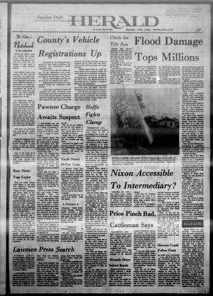 Primary view of Sapulpa Daily Herald (Sapulpa, Okla.), Vol. 60, No. 154, Ed. 1 Wednesday, March 13, 1974