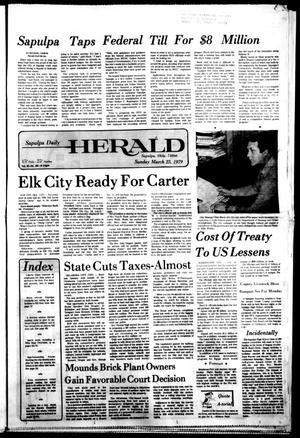 Primary view of Sapulpa Daily Herald (Sapulpa, Okla.), Vol. 65, No. 163, Ed. 1 Sunday, March 25, 1979