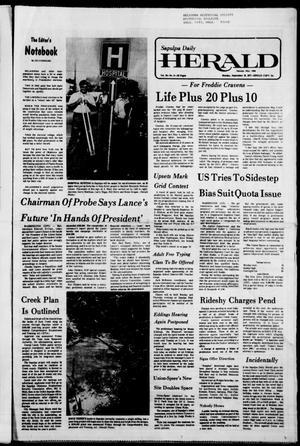 Primary view of Sapulpa Daily Herald (Sapulpa, Okla.), Vol. 64, No. 5, Ed. 1 Monday, September 19, 1977