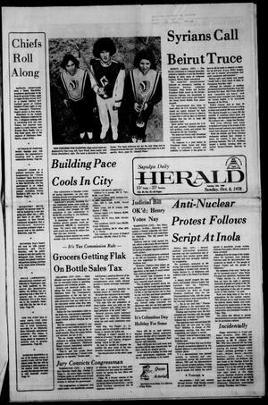 Primary view of Sapulpa Daily Herald (Sapulpa, Okla.), Vol. 65, No. 21, Ed. 1 Sunday, October 8, 1978