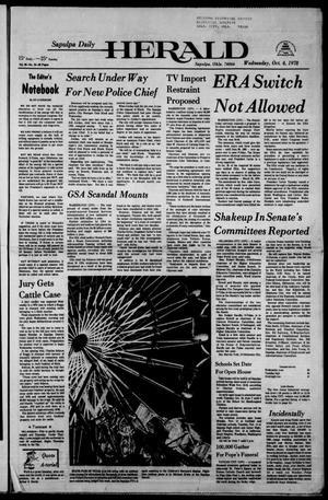 Primary view of Sapulpa Daily Herald (Sapulpa, Okla.), Vol. 65, No. 18, Ed. 1 Wednesday, October 4, 1978