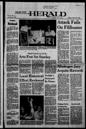 Primary view of Sapulpa Daily Herald (Sapulpa, Okla.), Vol. 64, No. 241, Ed. 1 Friday, June 23, 1978